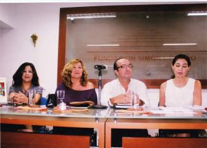 Poets and writers Gustavo Cárdenas and Jessica Saavedra, 2013