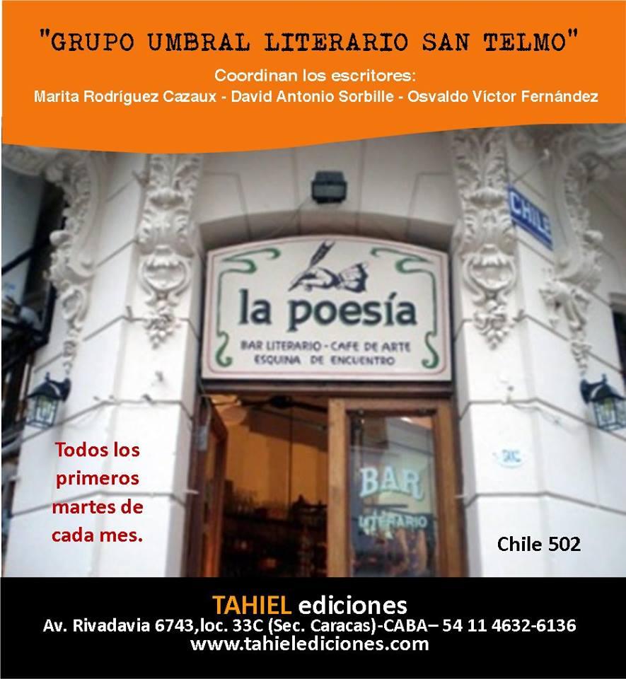 Encuentro con Liliana Díaz Mindurry y Umbral Literario de Buenos Aires en Café La Poesía de SanTelmo
