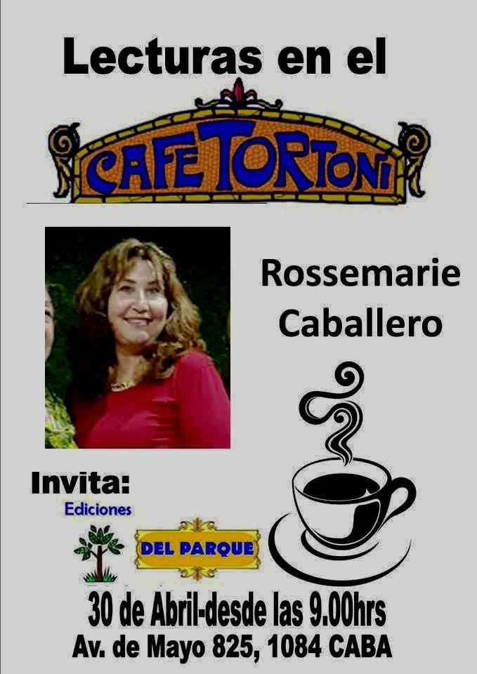 La autora boliviana Rossemarie Caballero participa de Lecturas en Biblioteca Nacional  y Café Tortoni en el marco de la Feria Internacional del Libro de BuenosAires