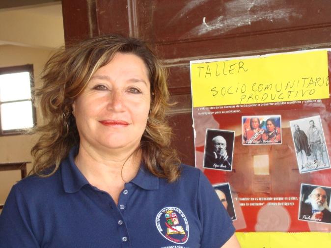 Esther, integrante del equipo